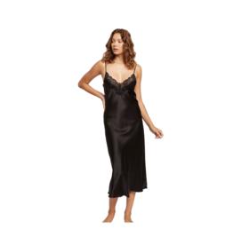 Ginia Pick & Mix Silk Nite Dress - Black