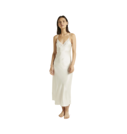 Ginia Long Nite Lace Slip Dress Sugar