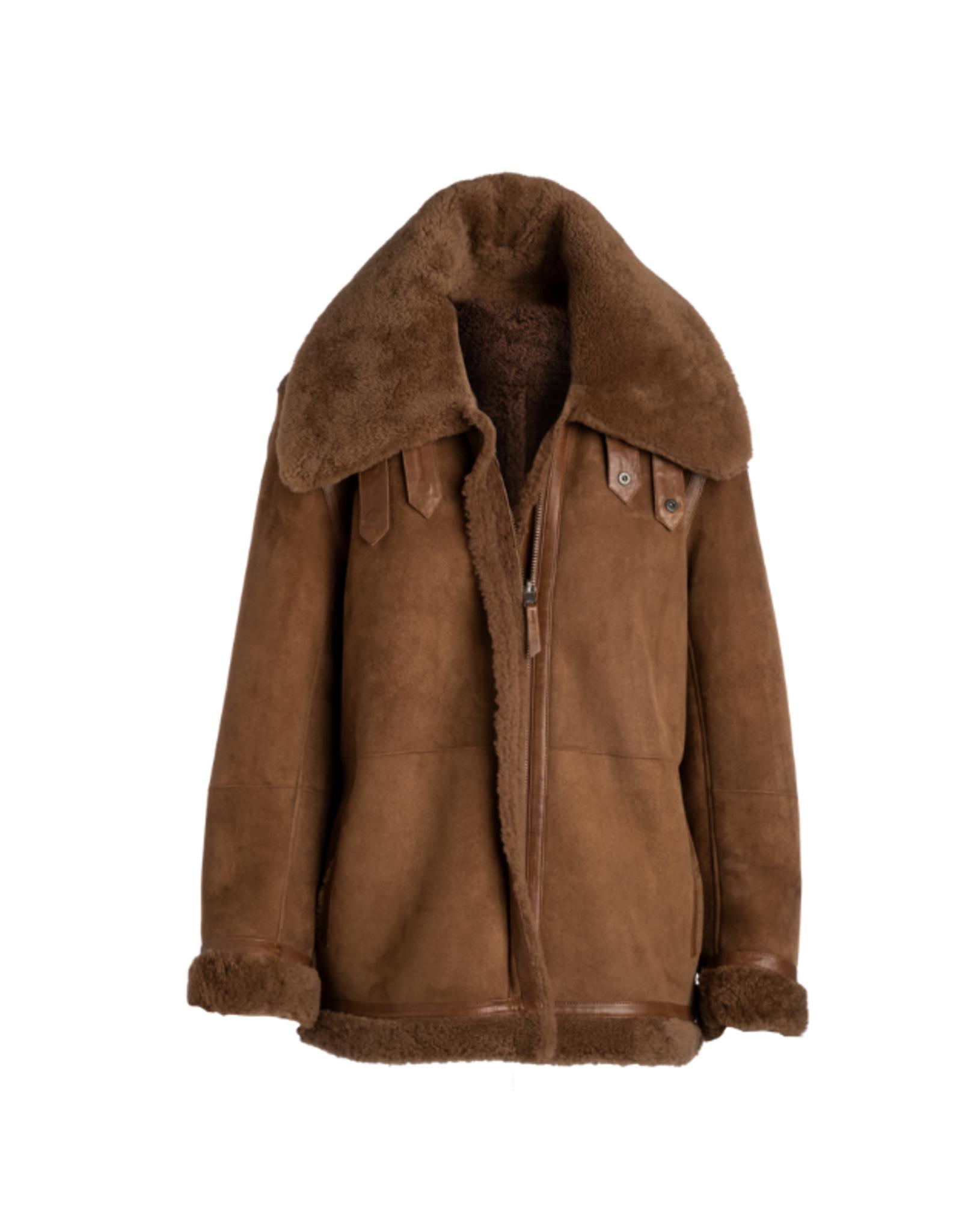 Arjé Canelle Reversible Shearling Jacket
