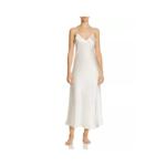 Ginia Silk V Neck Slip Dress - Creme