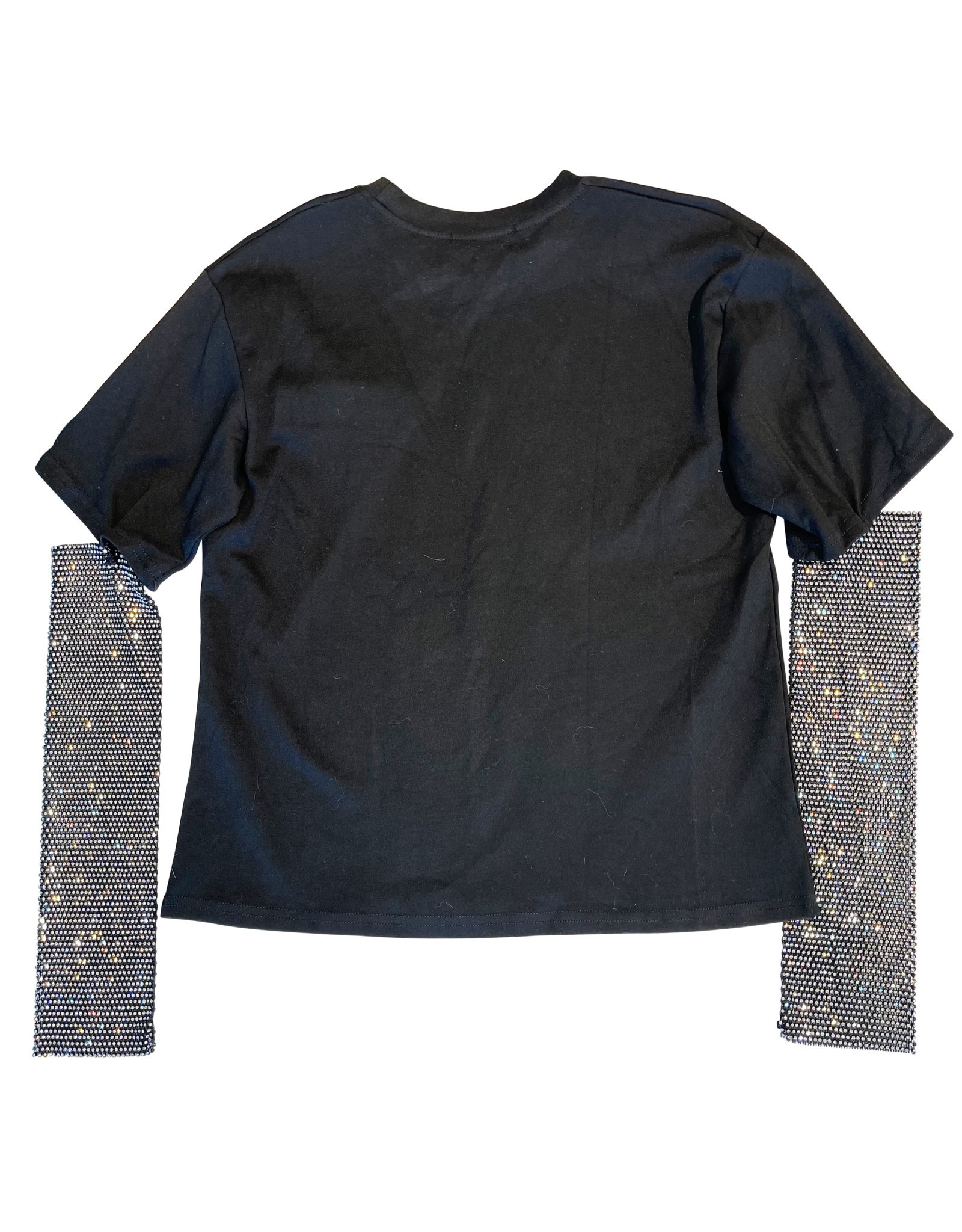 Wyld Blue Black Half Embellished Long Sleeve
