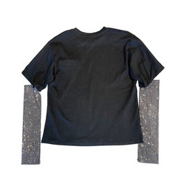 Wyld Blue Black Half Embellished Long Sleeve