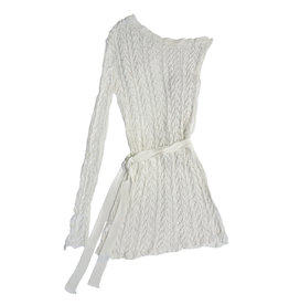 Wyld Blue One Shoulder Crochet Dress