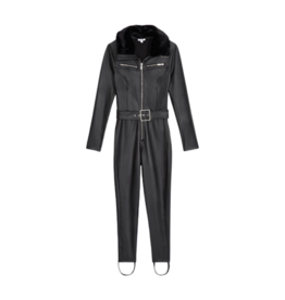 Shop WeWoreWhat Ski Suit with Fur Collar - Black