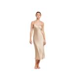 Ginia Silk V Neck Slip Dress - Mink