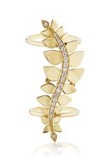 KBH Jewels Leaf Climber Ring 14K Yellow Gold