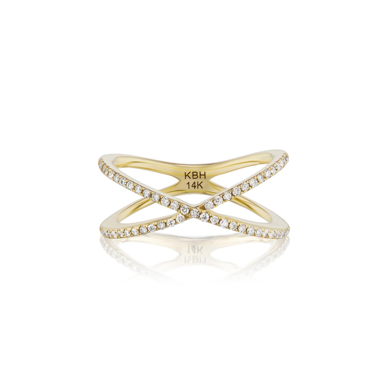 KBH Jewels Diamond X Ring