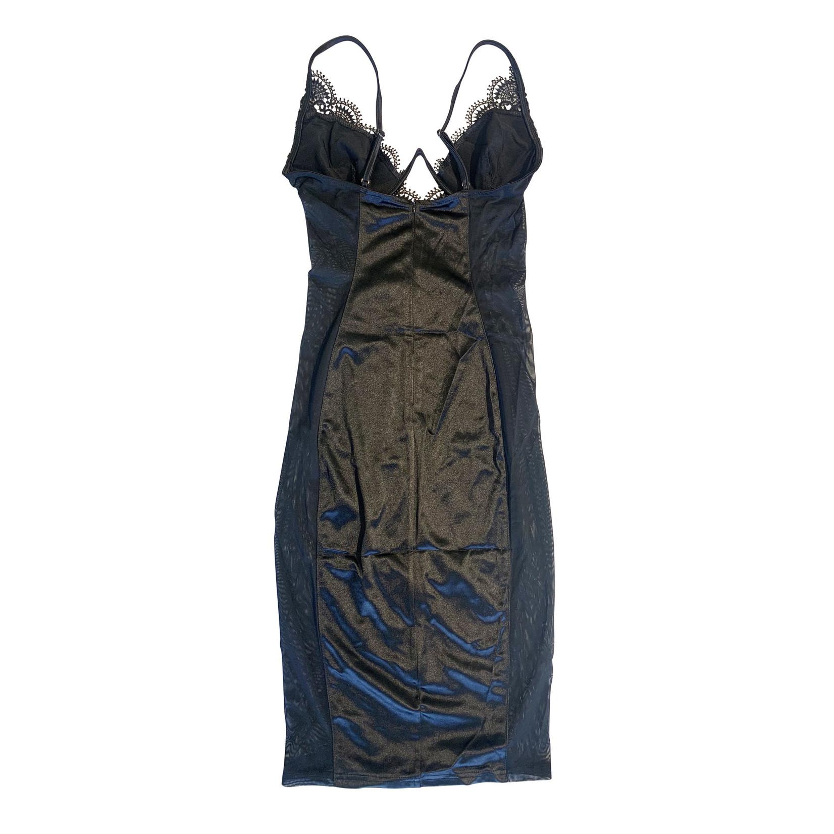 Wyld Blue Black Lingerie Dress L