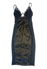 Wyld Blue Black Lingerie Dress L