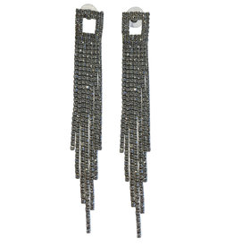 Wyld Blue Crystal Square Detail Earring