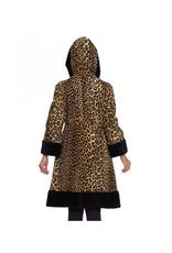 Wyld Blue Vintage Leopard Faux Fur Coat (1960s Vintage)