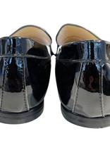 Wyld Blue Chanel Black Vintage Leather Loafers Sz 38C