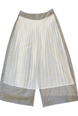 Wyld Blue Trousers with White Ruffle Skirt