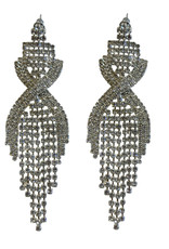 Wyld Blue Twisted Crystal Earrings