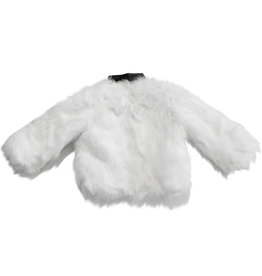 Wyld Blue White Fur Jacket Leather Collar 18M