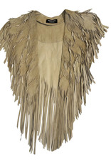 Wyld Blue Vintage Suede Feather Cape Tan (Vintage)