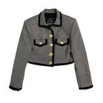 Versace Versace Chevron Cropped Blazer