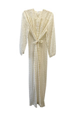 Wyld Blue Vintage White Sheer Duster Robe with Lace Trim & Belt(1950s Vintage)