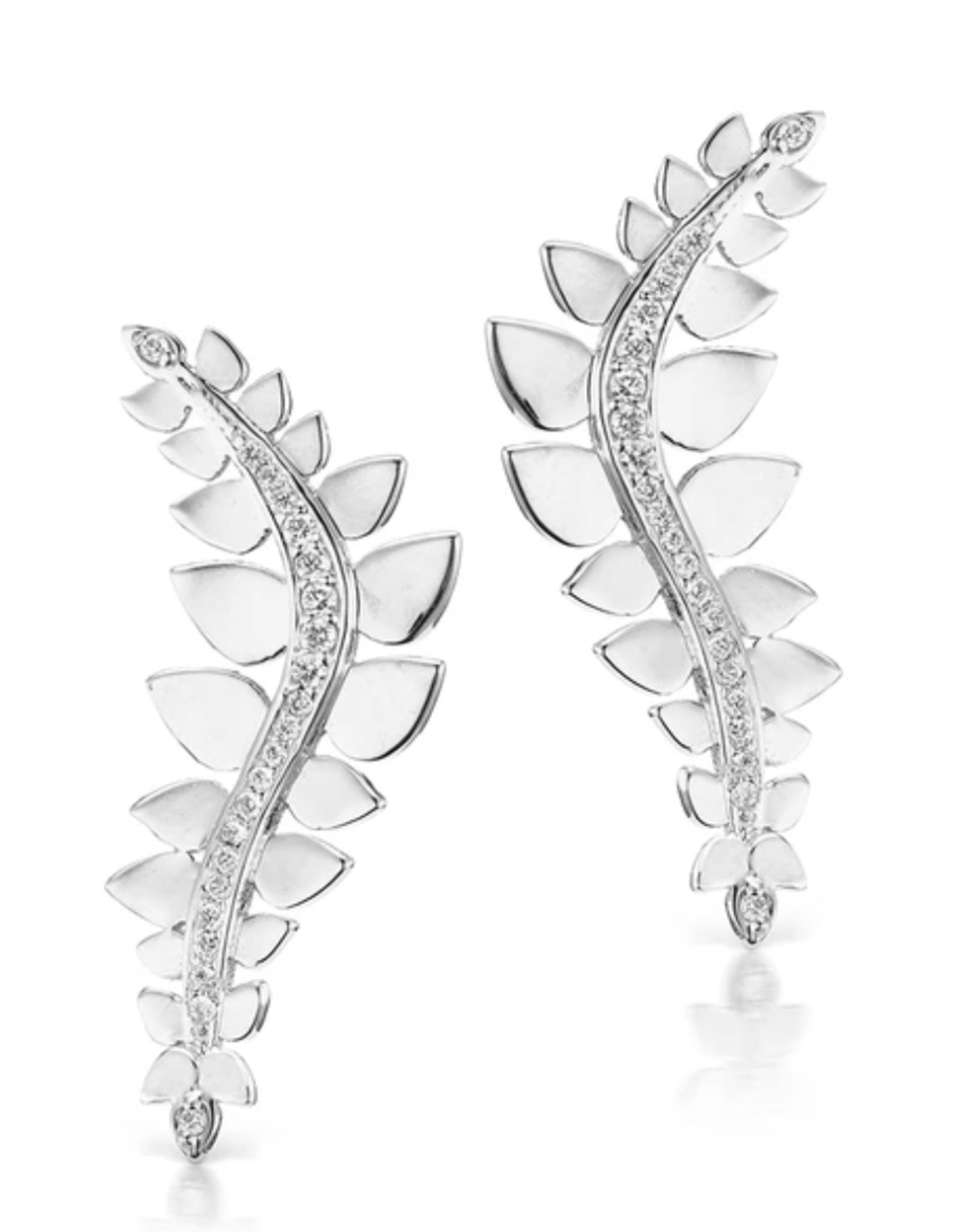 KBH Jewels Leaf Climber Earrings
