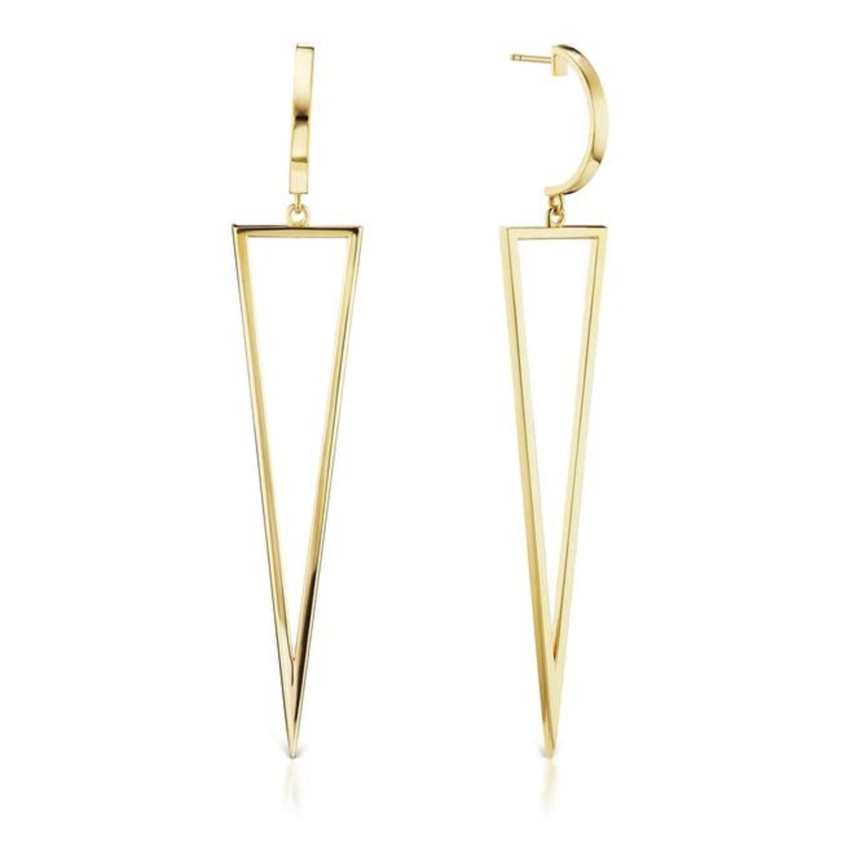 KBH Jewels Magnum Arrow Earrings Yellow Gold