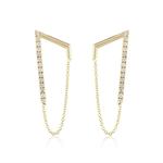 KBH Jewels Diamond Lucky 7 Earrings