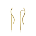 KBH Jewels S Thread Earrings Yellow Gold