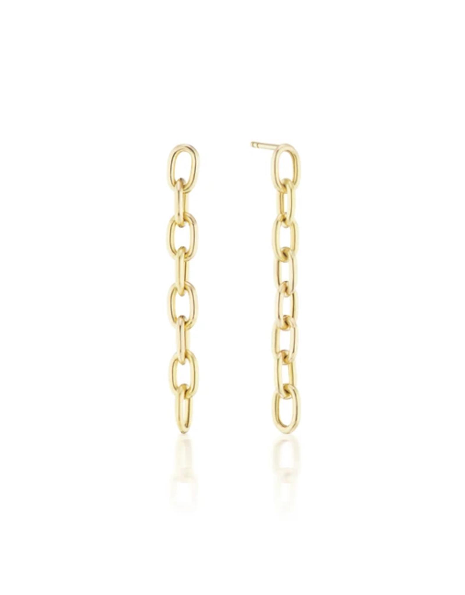 KBH Jewels Elongated Chain Link Earrings
