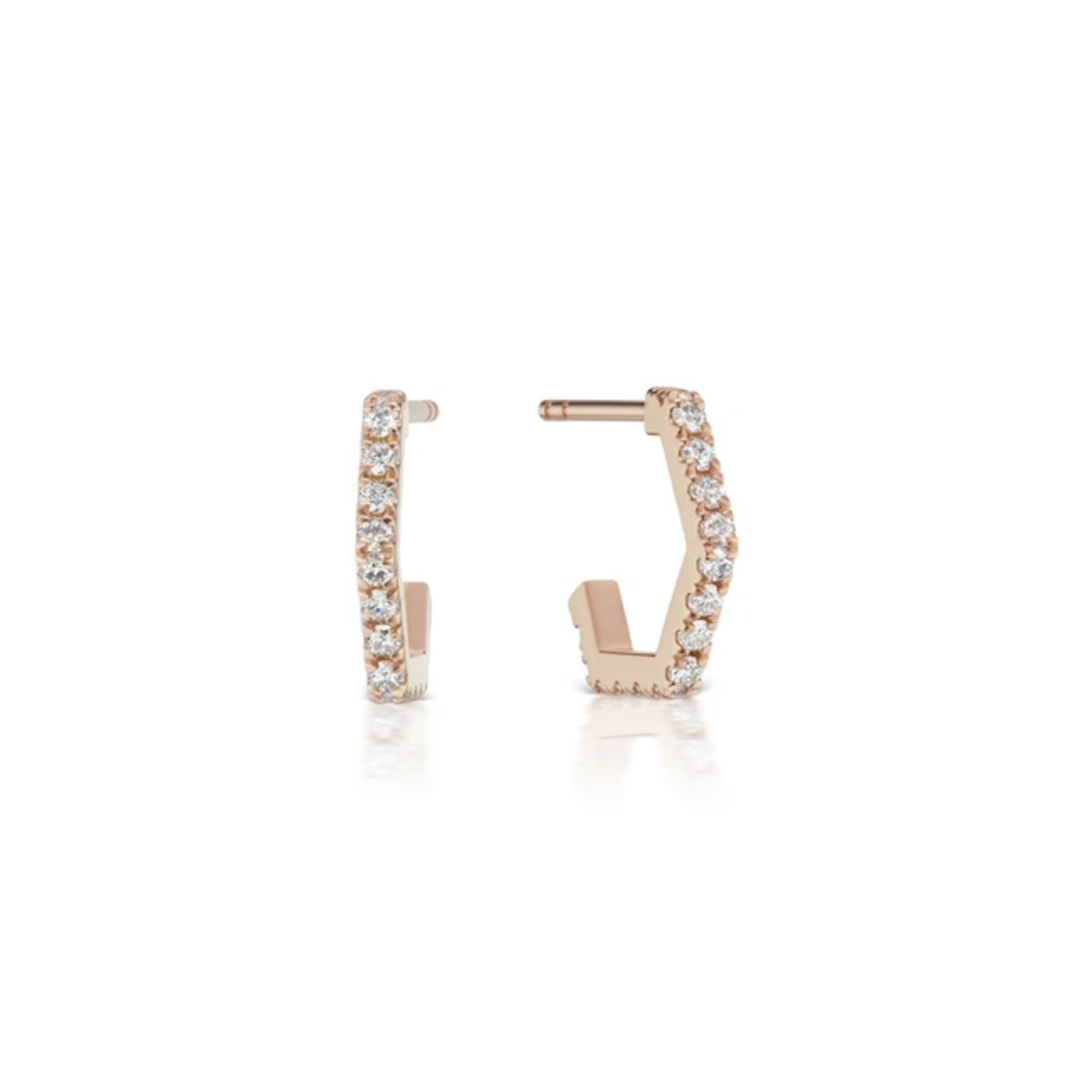 KBH Jewels Diamond Hex Huggies