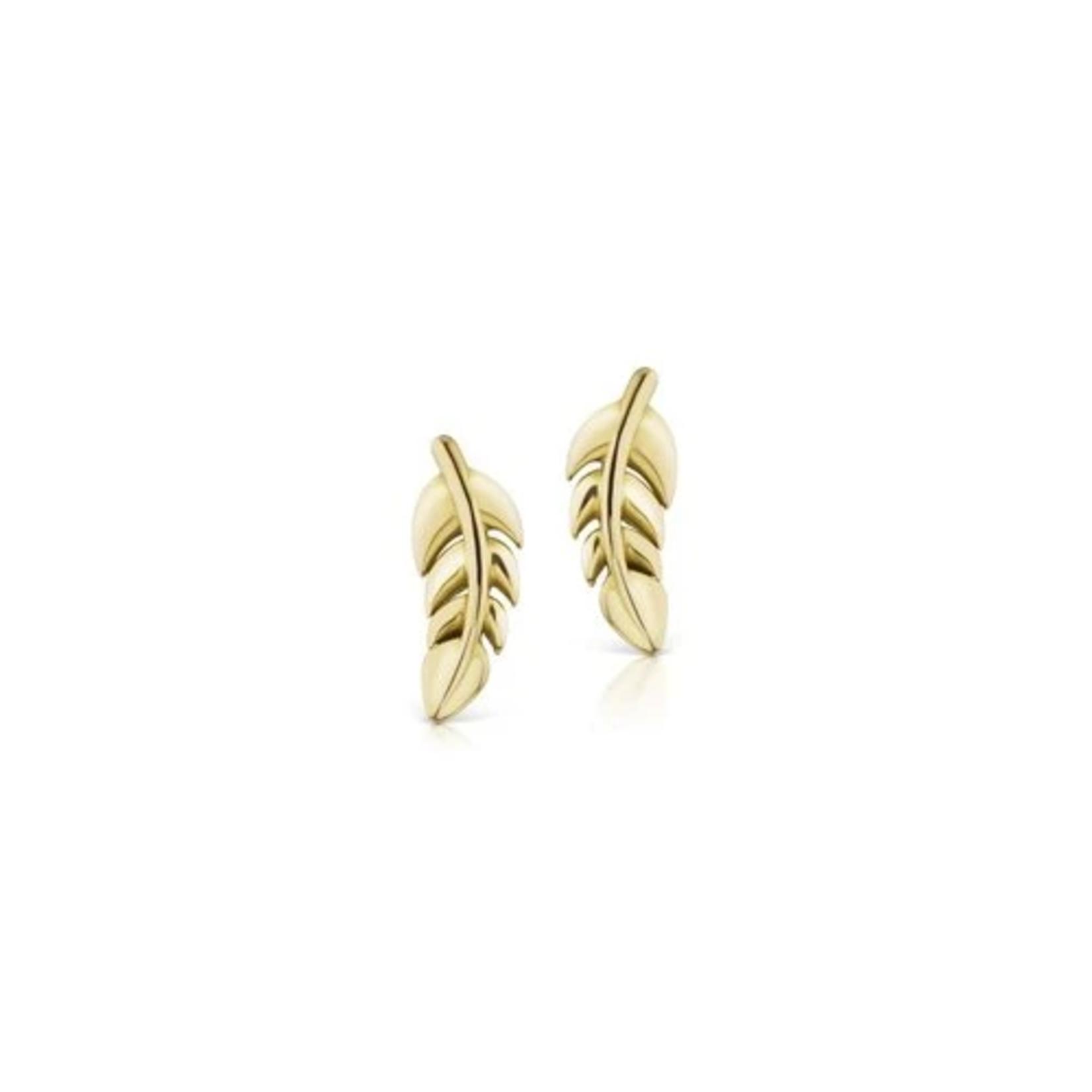KBH Jewels Mini Leaf Studs