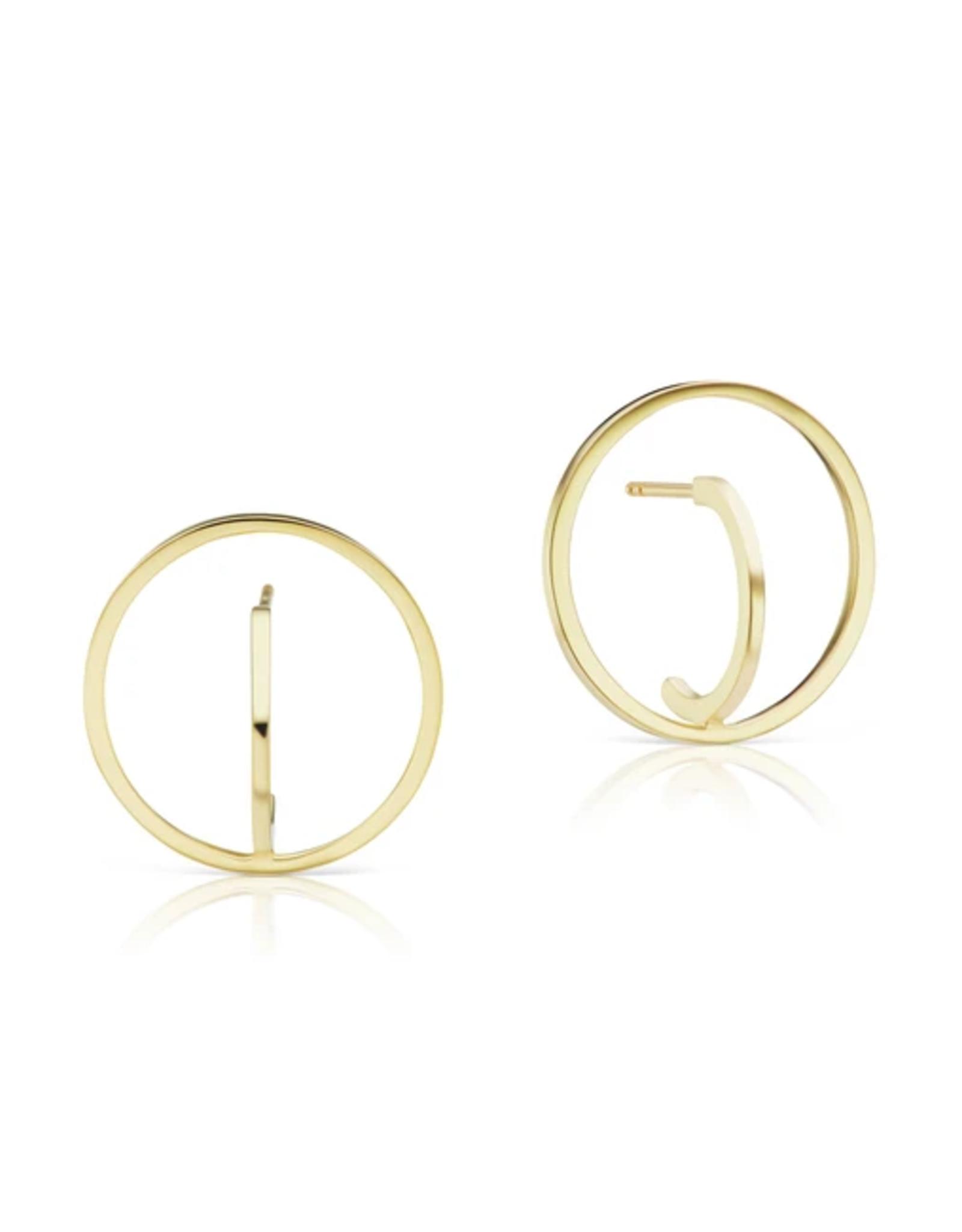 KBH Jewels Reclaimed Gold Orb Earrings