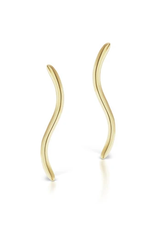 KBH Jewels S Climber Earrings Yellow Gold