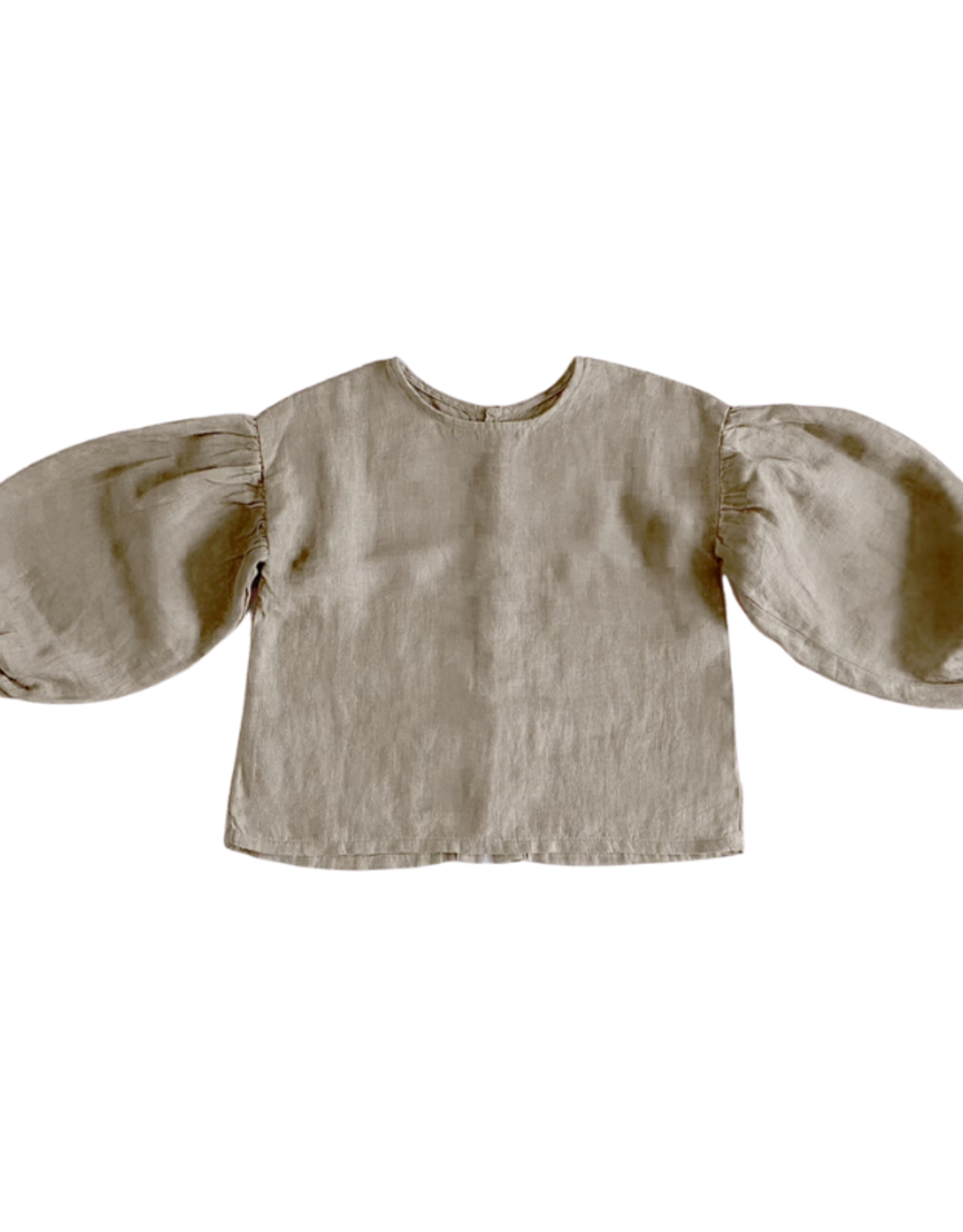 The Simple Folk The Balloon Sleeve Top - Oatmeal