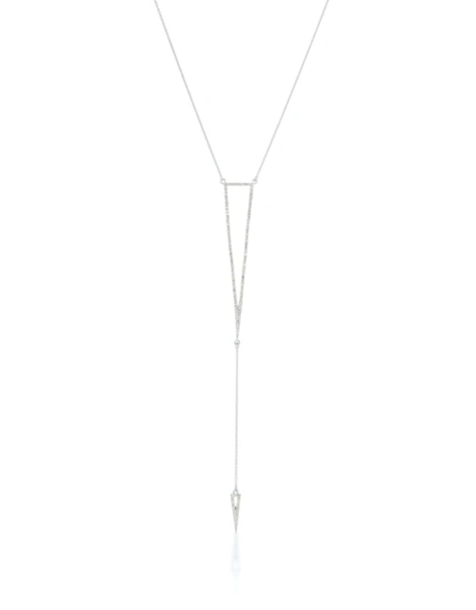 KBH Jewels Diamond Arrow Lariat White Gold