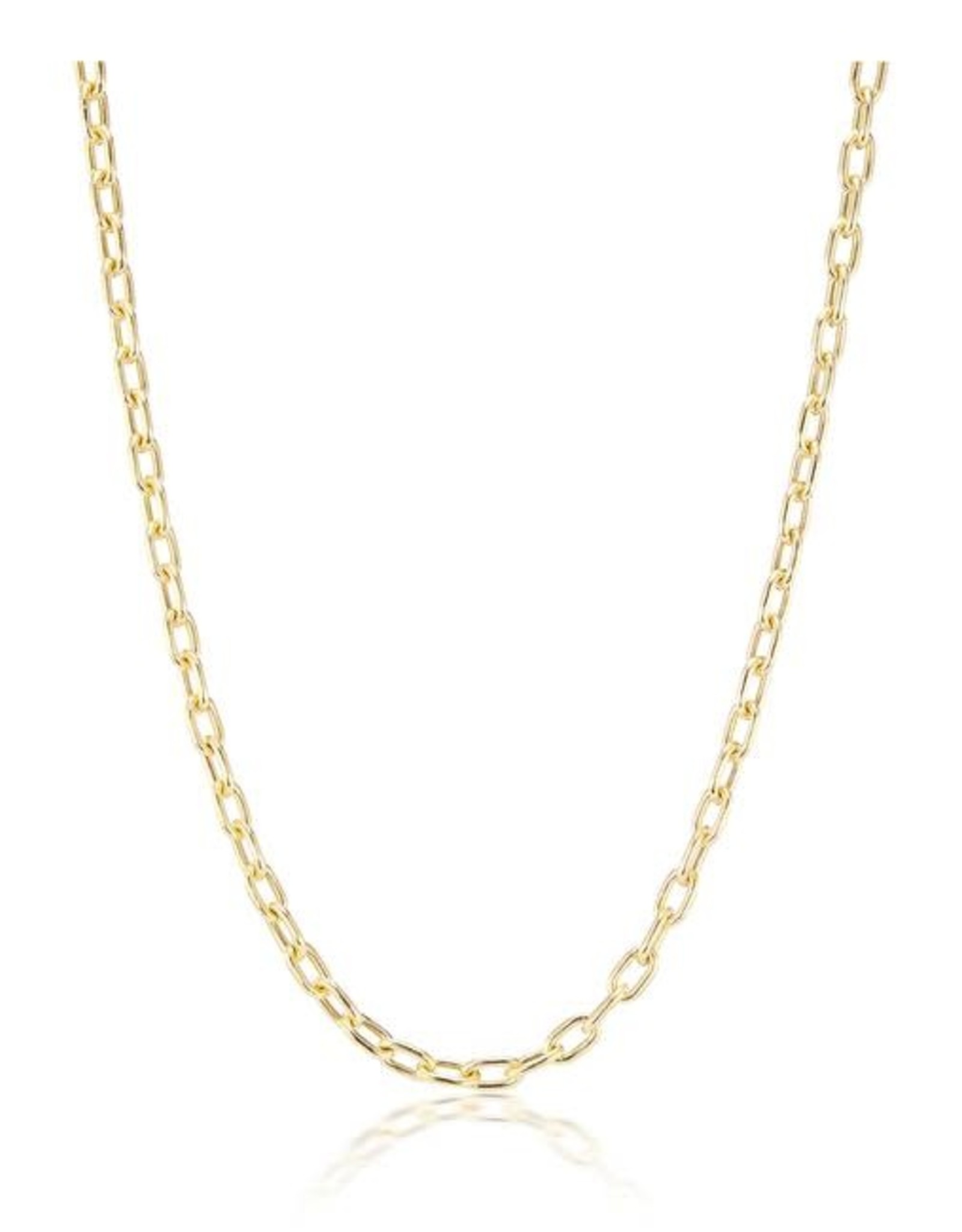 KBH Jewels Thick Elongated Link Necklace