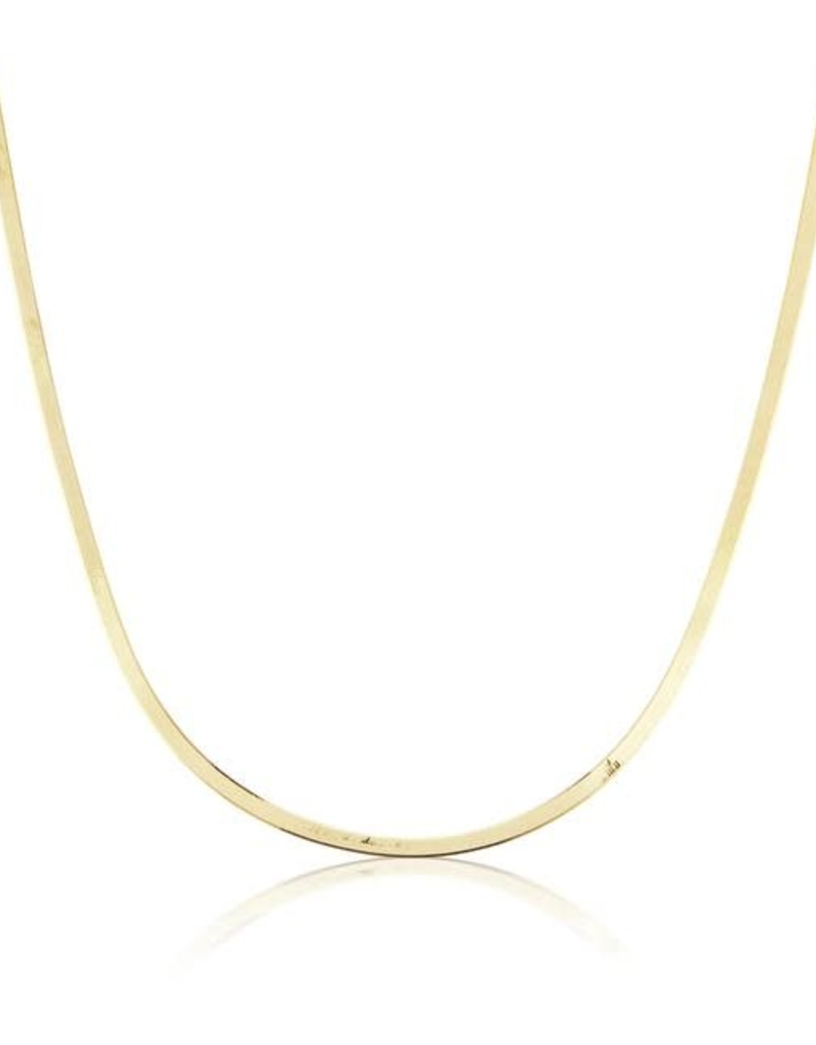 KBH Jewels Liquid Gold Herringbone Necklace