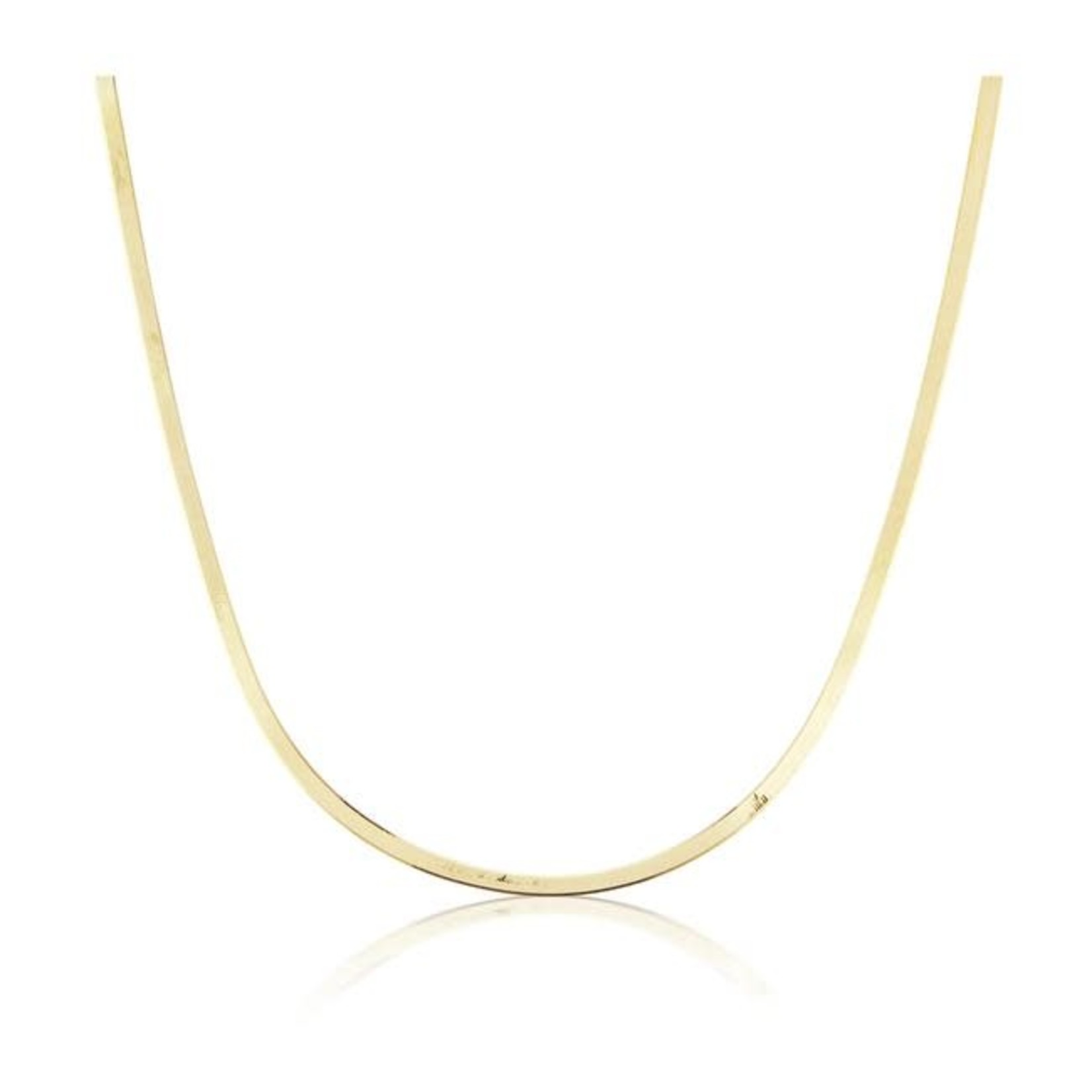 KBH Jewels Liquid Gold Herringbone Necklace