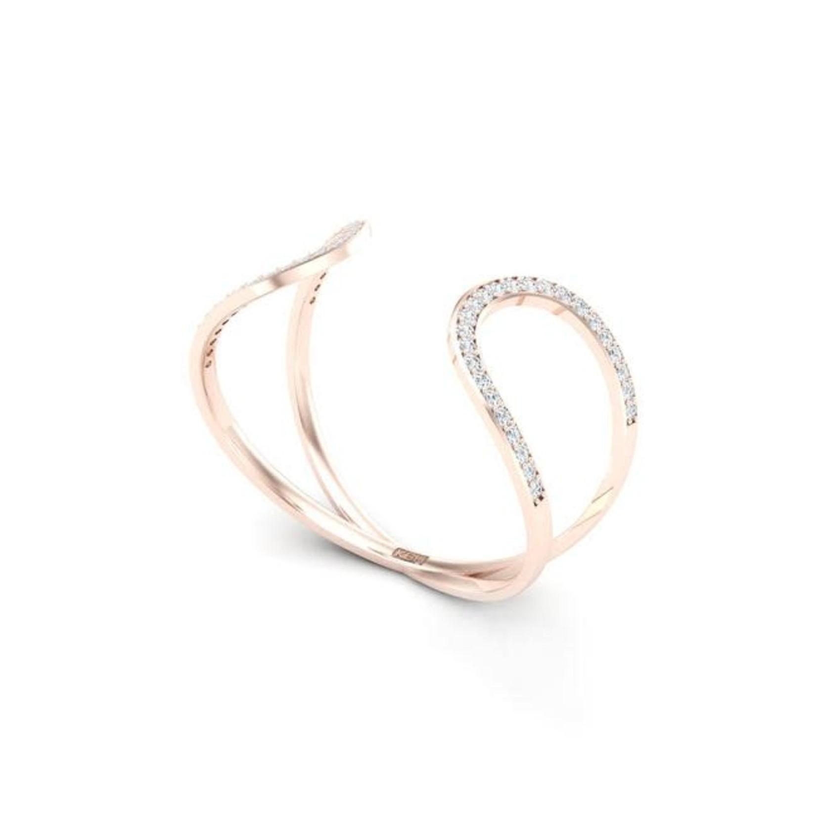 KBH Jewels Promise Cuff Rose Gold
