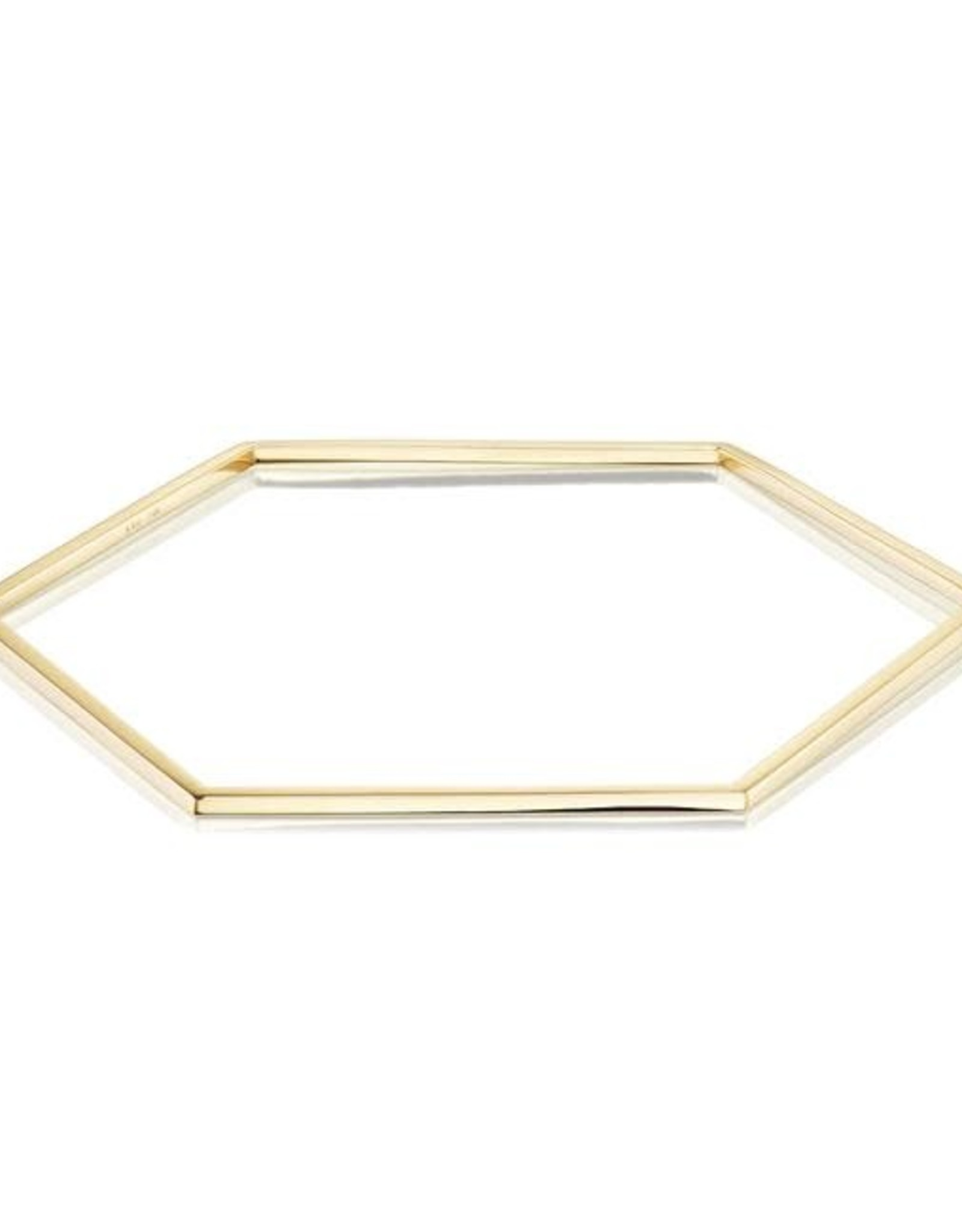 KBH Jewels Reclaimed Gold Hex Bangle