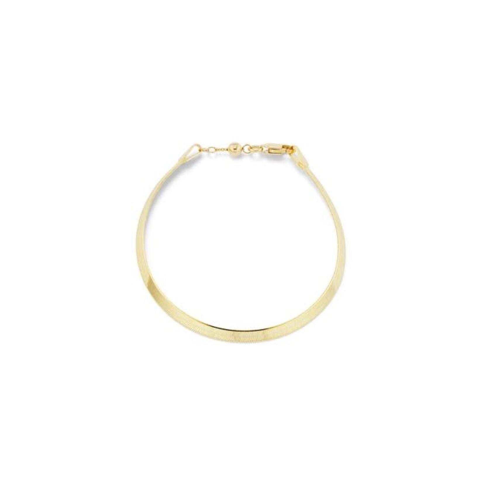 KBH Jewels Liquid Gold Herringbone Bracelet