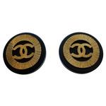 Chanel Chanel Vintage Black Sunburst Clip-On Studs (1992 Vintage)