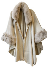 Wyld Blue Fur Collar Cape