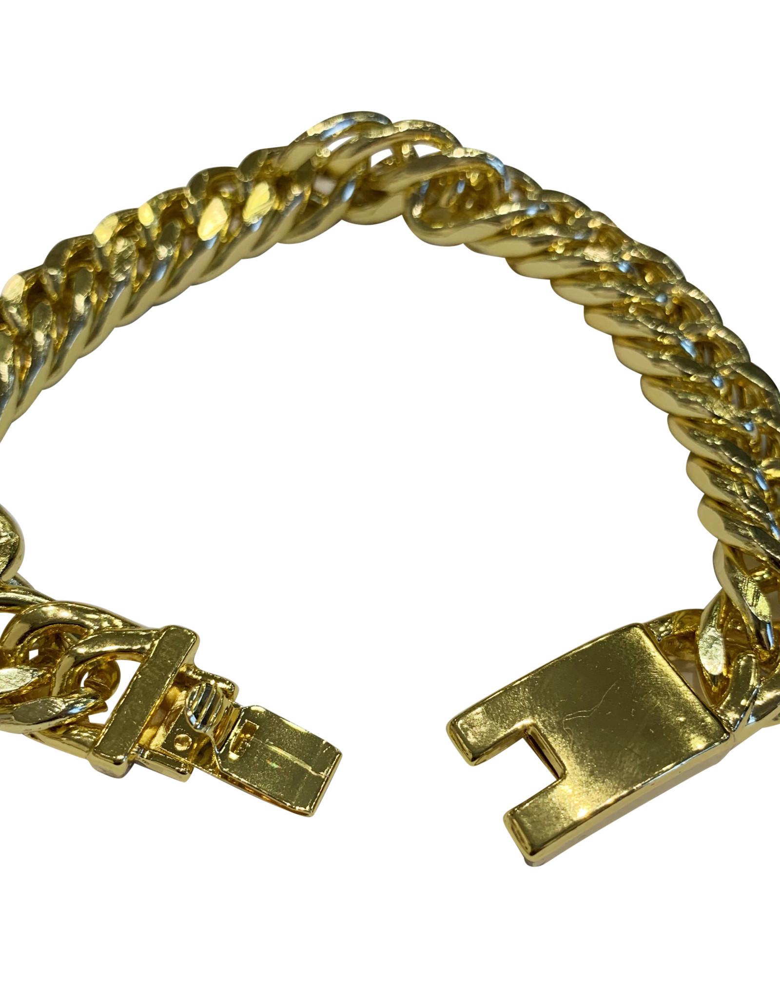 Wyld Blue Mens Gold Bracelet