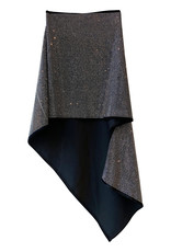 Wyld Blue Crystal Embellished Asymmetrical Skirt
