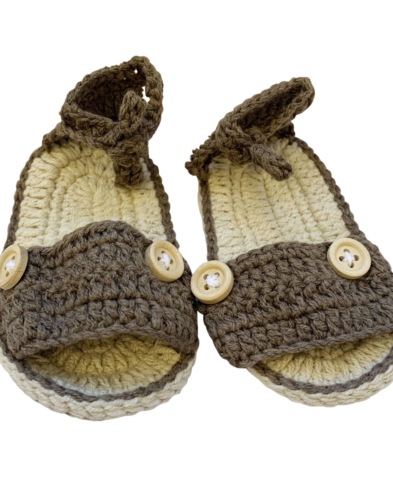 Wyld Blue Kids Baby Knit Sandals Chocolate