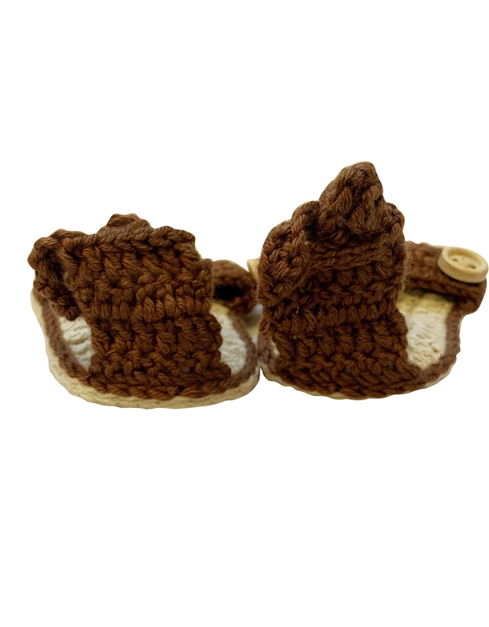 Wyld Blue Kids Baby Knit Sandals Khaki