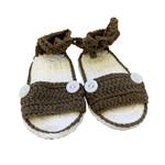 Wyld Blue Kids Baby Knit Sandals Army