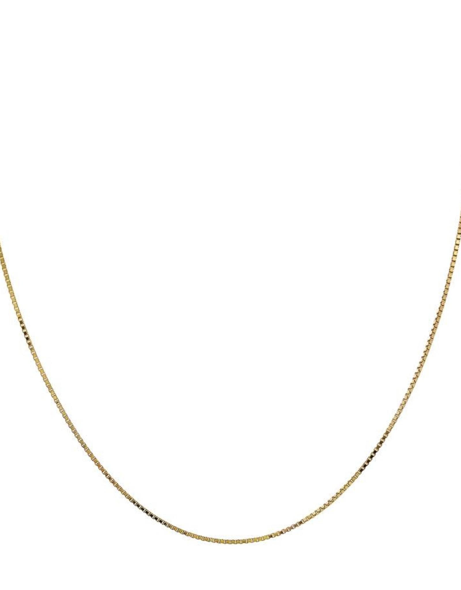 """Adinas Box Chain Necklace 14K 18"""""""
