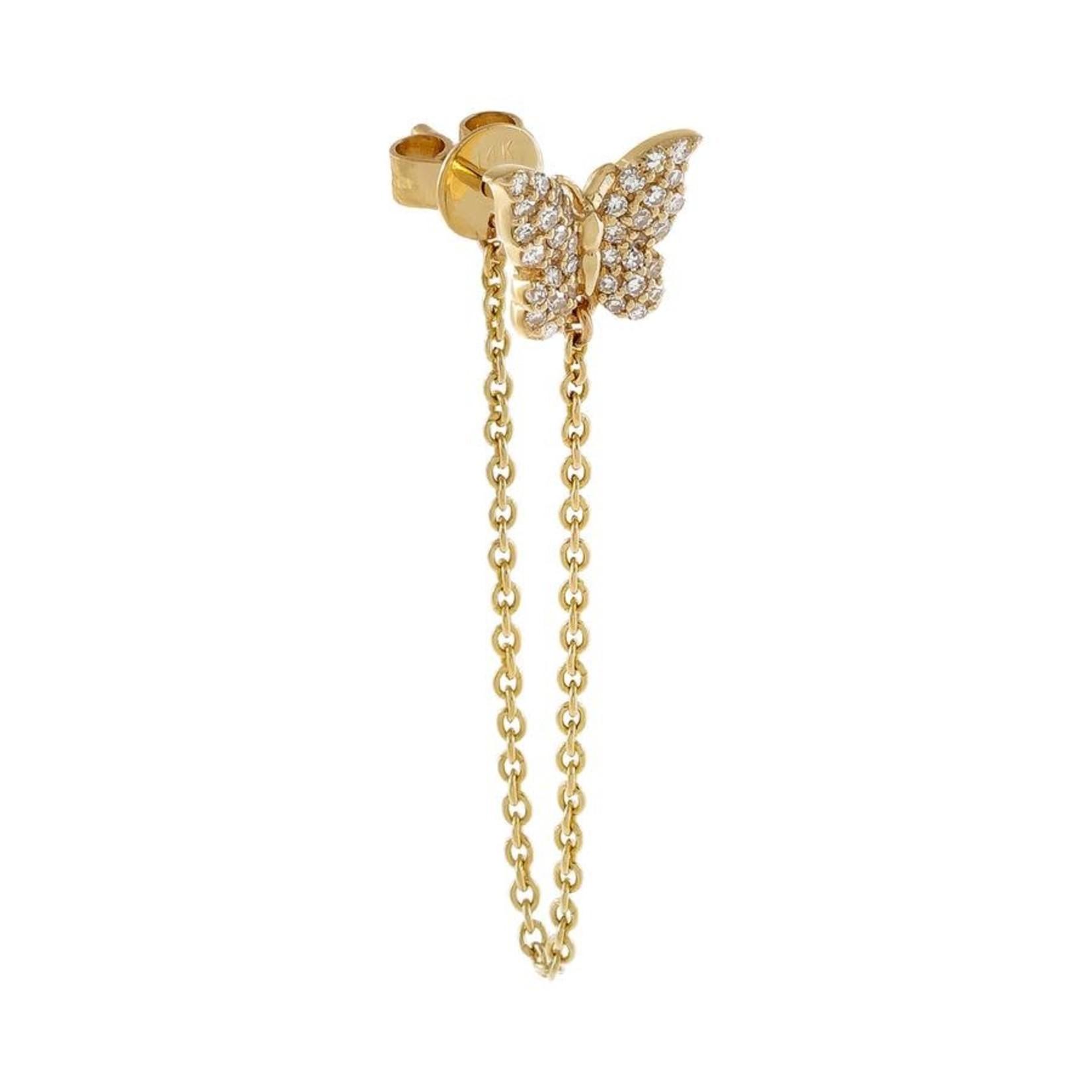 Adinas Diamond Butterfly Chain Drop Single