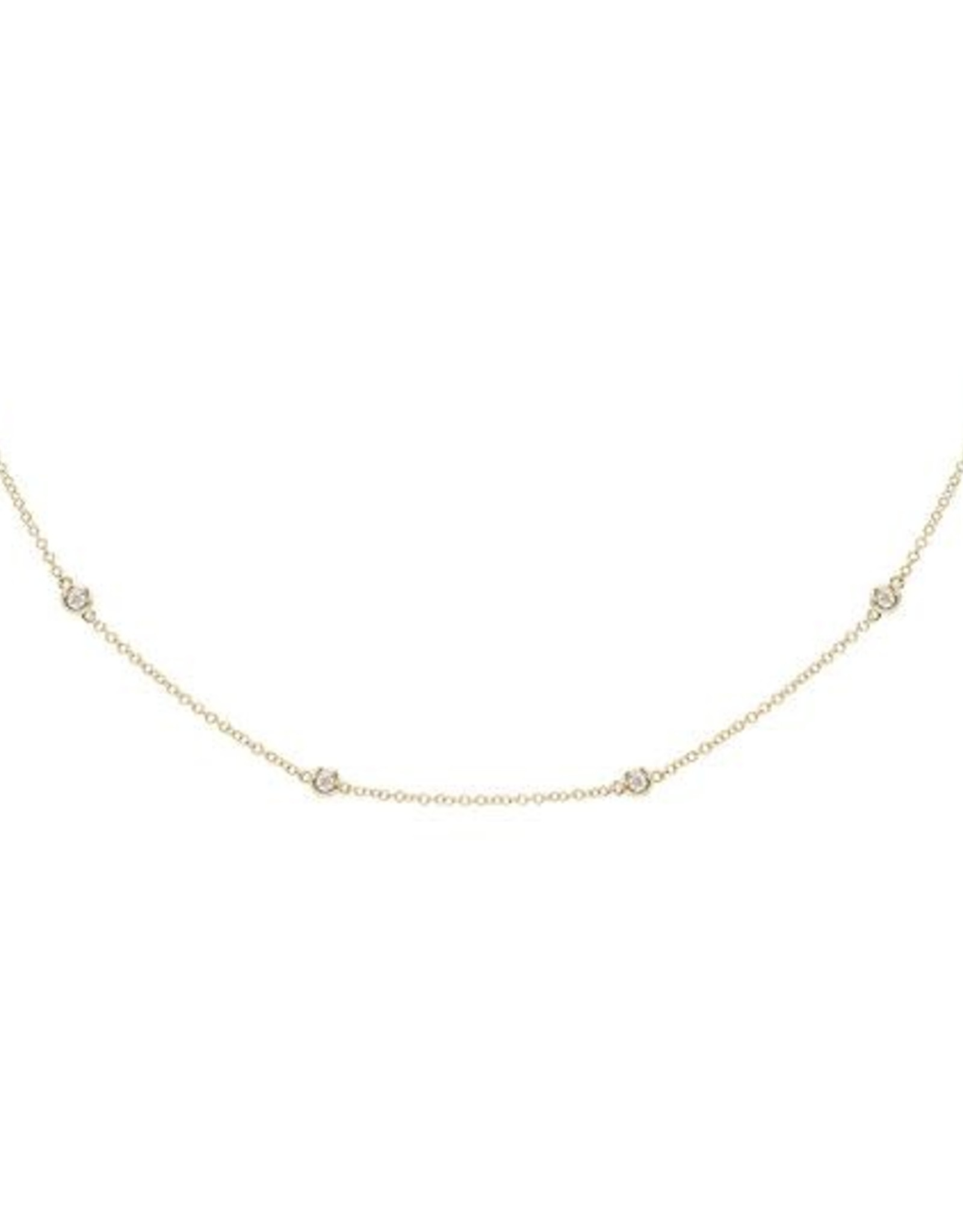 Adinas Diamond Bezel Chain Necklace 14k