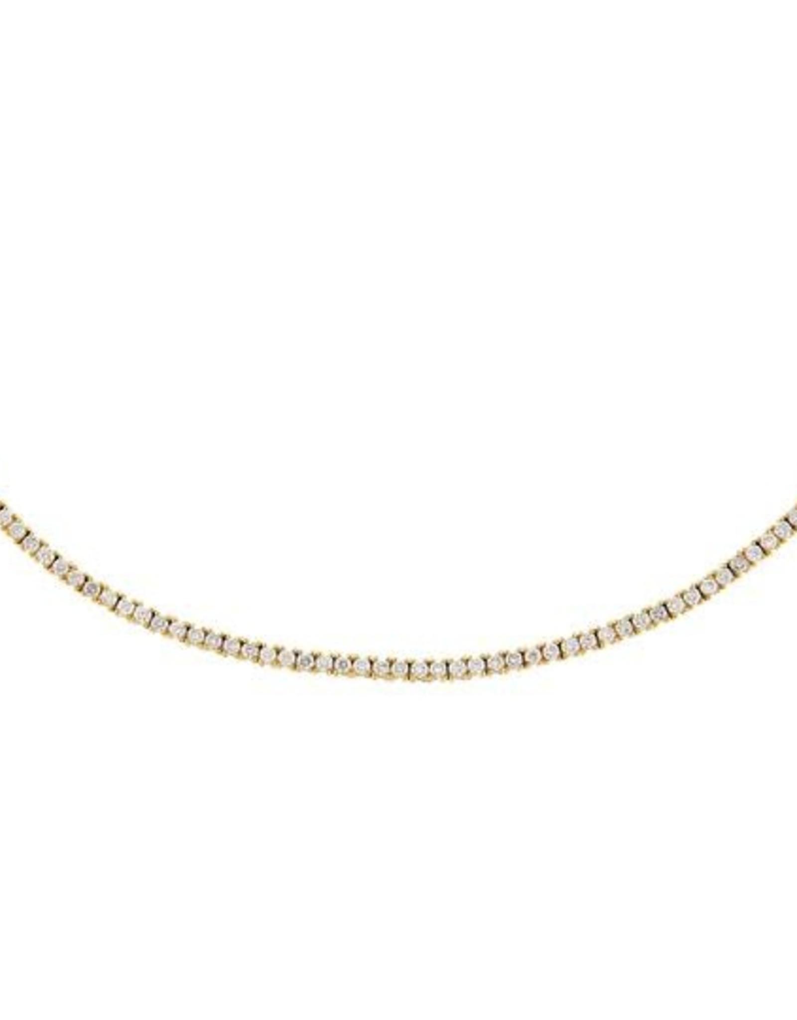 Adinas Diamond Thin Tennis Necklace 14K